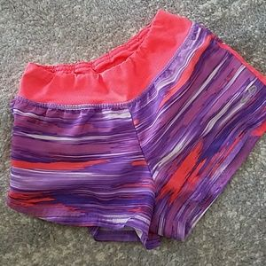 4/$15 Champion Purple / Coral Sports Shorts sz M
